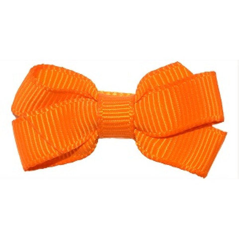 No Slippy Hair Clippy Haley Mini Grosgrain Bow Orange