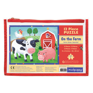 Mudpuppy Pouch Puzzle - On the Farm