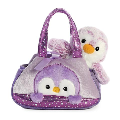Aurora Fancy Pals PomPom Penguin Purple