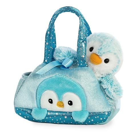 Aurora Fancy Pals PomPom Penguin Blue
