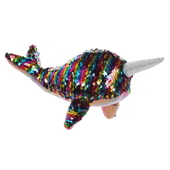 Aurora Sea Sparkles: Sequin Star Narwhal