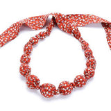 Peppercorn Kids Beaded Cloth Necklace Star Burst