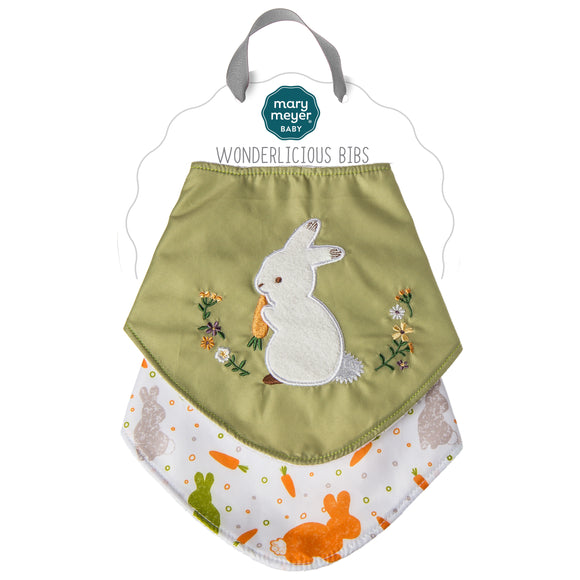 Mary Meyer Oatmeal Bunny Wonderlicious Bib Set