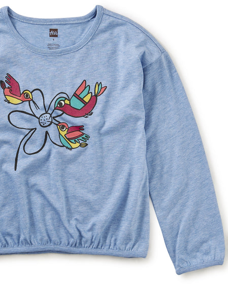 Tea Collection Andean Hummingbird Graphic Top