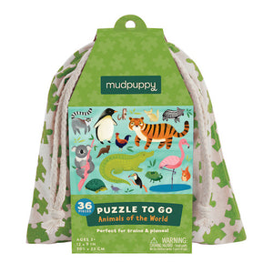 Mudpuppy Puzzle To Go - Animals Of The World