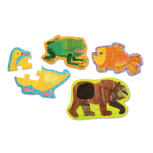 Mudpuppy Touch & Feel Puzzle Brown Bear, Brown Bear