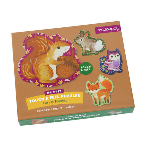 Mudpuppy Touch & Feel Puzzle Forest Friends