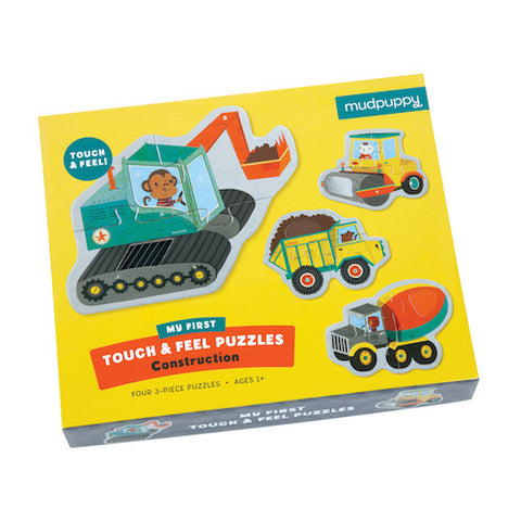Mudpuppy Touch & Feel Puzzle Construction