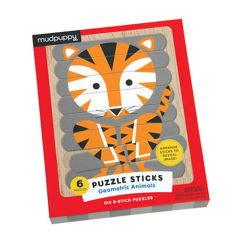 Mudpuppy Puzzle Sticks - Geometric Animals