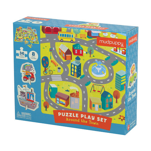 Mudpuppy Puzzle Play Set - Around the Town
