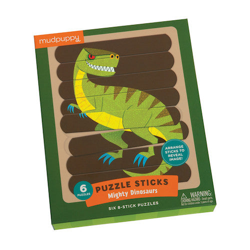 Mudpuppy Puzzle Sticks - Mighty Dinosaurs