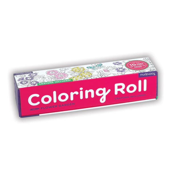 Mudpuppy Coloring Roll - Flower Garden