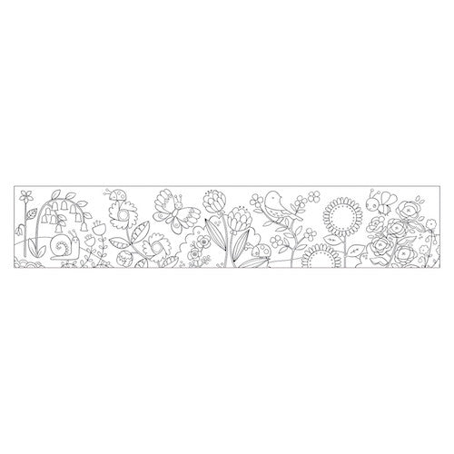 Mudpuppy Mini Coloring Roll Flower Garden