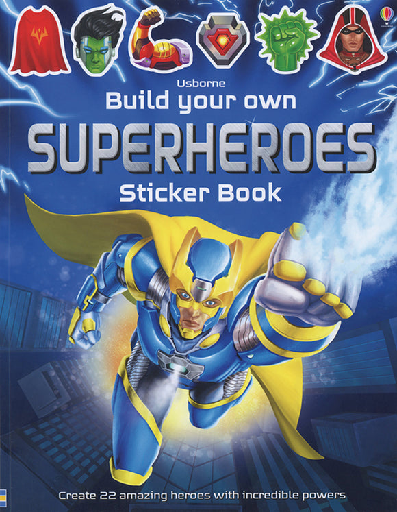 Build Your Own Superhero Sticker Book