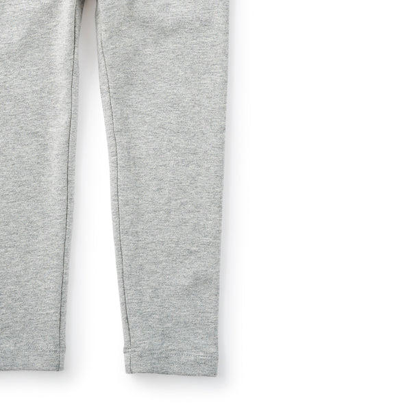 Tea Collection Skinny Solid Leggings Med Heather Grey