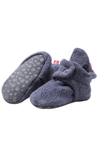 Zutano Cozie Baby Booties Navy with Grippers