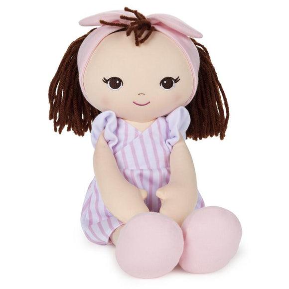 GUND Toddler Doll Pink Striped Dress 8