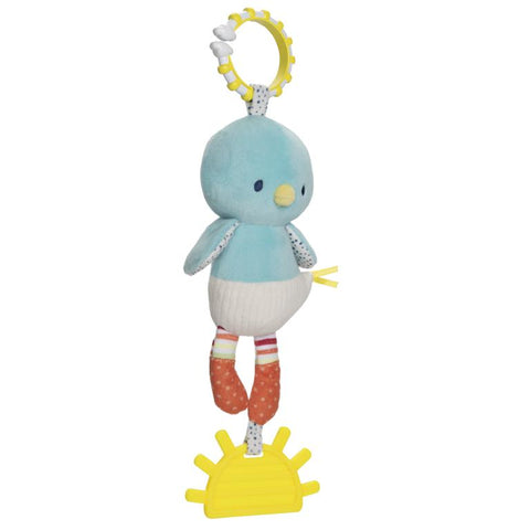 babyGUND Tinkle Crinkle Birdie Teether Activity Toy 13""