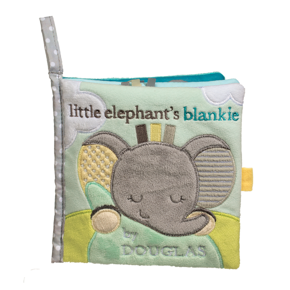 Douglas Baby Joey Gray Elephant Soft Activity Book 6