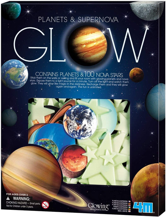 4M Glow-in-the-Dark Planets, Nova and Stars