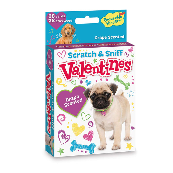 Peaceable Kingdom Puppy Scratch & Sniff Valentines