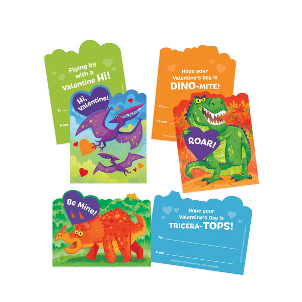 Peaceable Kingdom Dinosaur Scratch & Sniff Valentines