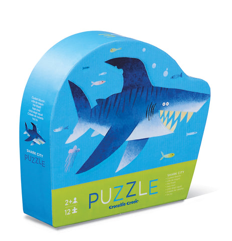 Crocodile Creek 12 Piece Mini Puzzle Shark City