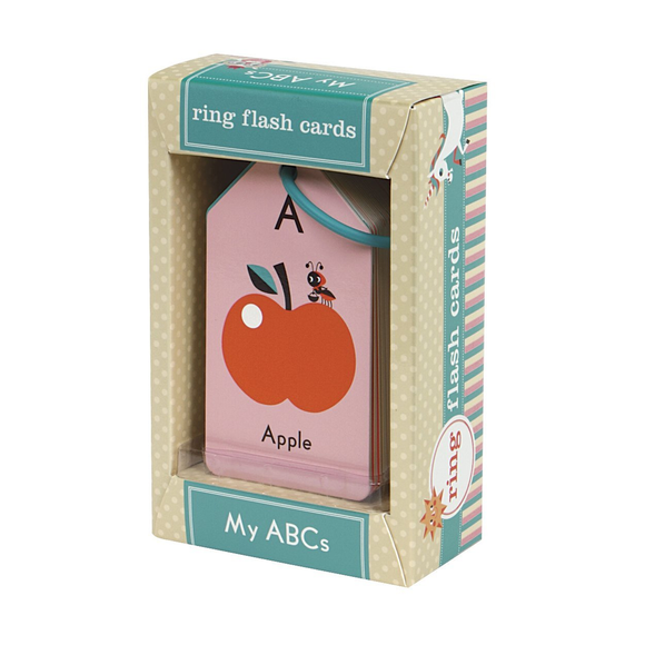 Mudpuppy Ring Flash Cards - My ABCs