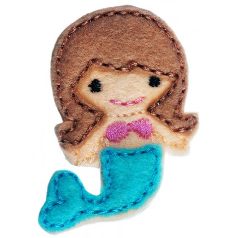 No Slippy Hair Clippy Ariel Mermaid Blue Tail