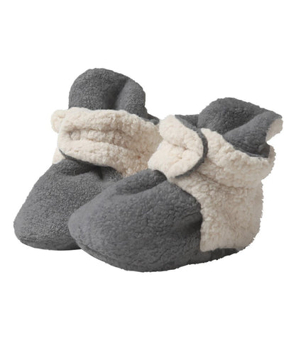 Zutano Cozie Baby Booties Furry Gray