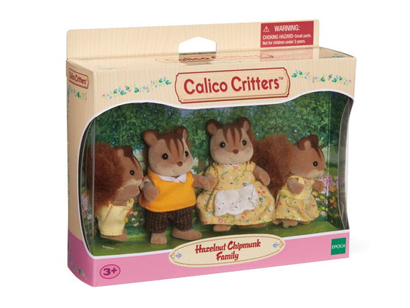 Calico Critters Hazelnut Chipmunk Family