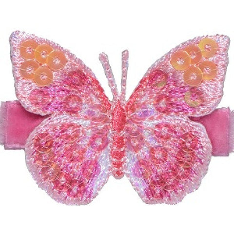 No Slippy Hair Clippy Blake Glitter Butterfly Shocking Pink