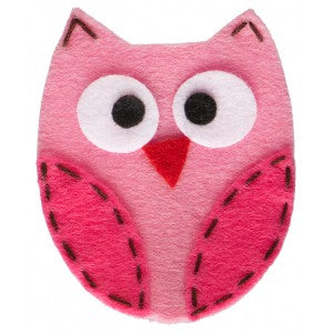 No Slippy Hair Clippy Ruby Owl Pink