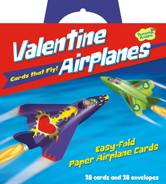 Peaceable Kingdom Valentine Airplane Cards