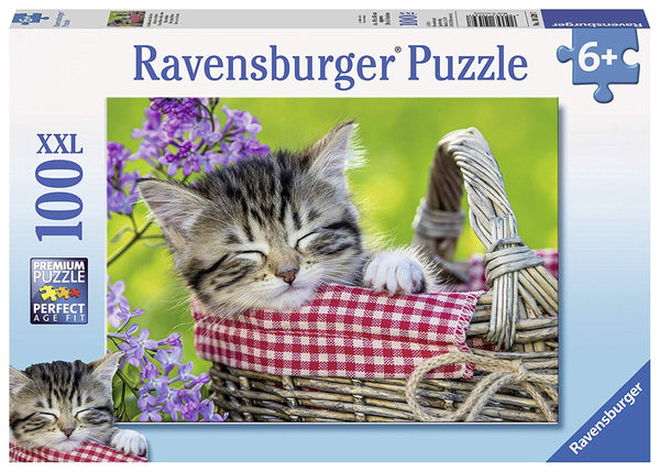 Ravensburger Puzzle 100 Piece Sleeping Kitten