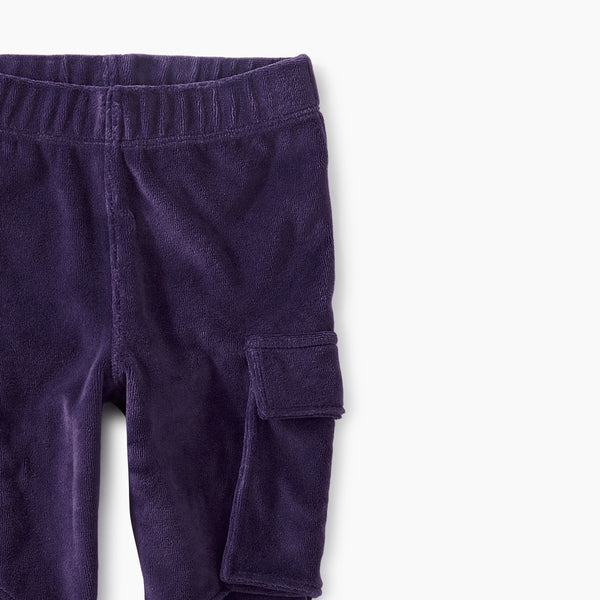 Tea Collection Velour Cargo Pant Foxglove