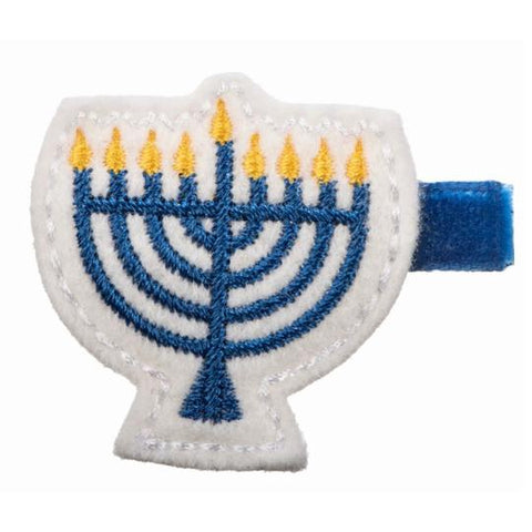 No Slippy Hair Clippy Hanukkah Menorah