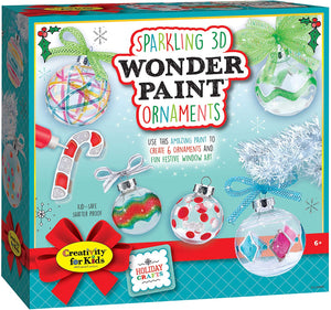 Creativity for Kids Holiday Sparkling 3D Wonder Paint Ornaments