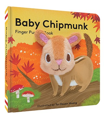 Baby Chipmunk Finger Puppet Board Book