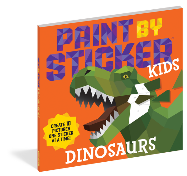 Paint By Sticker Kids Dinosaurs