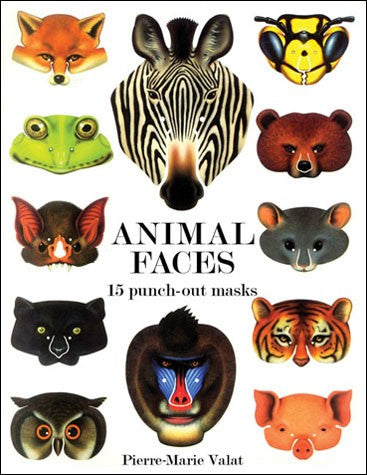 Animal Faces: 15 Punch-Out Masks