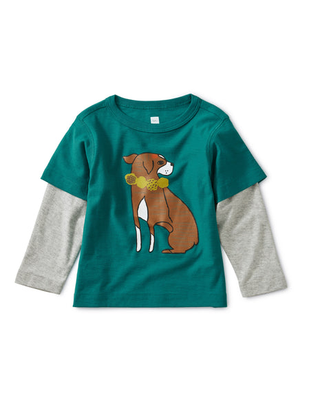 Tea Collection Layered Dog Baby Graphic Tee