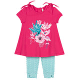 "Deux Par Deux ""Gather Thistles, Expect Prickles"" Flamingo Tunic & Capri Set"