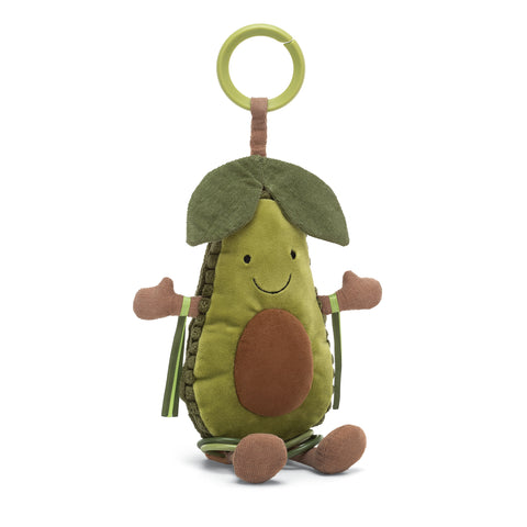 By Jellycat: Amuseables Baby Avocado Activity Toy 6""