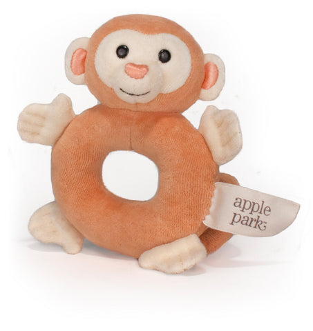 Apple Park Organic Teething Rattle – Monkey