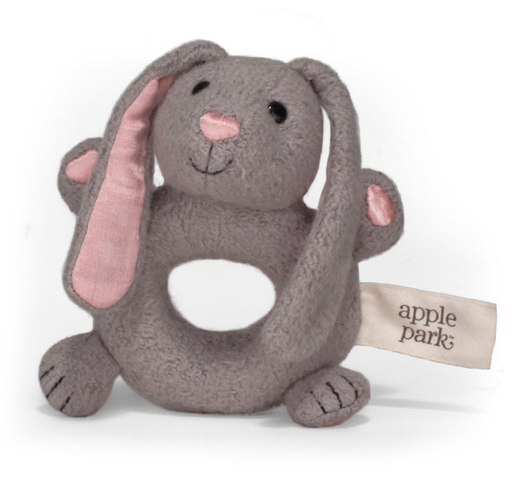 Apple Park Organic Teething Rattle – Bunny