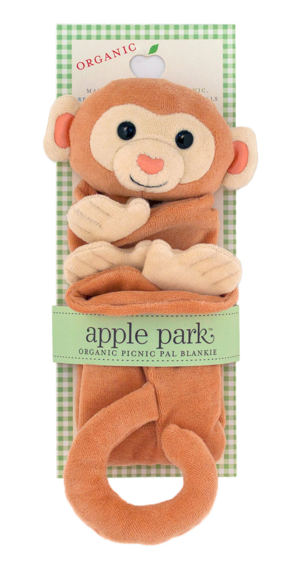 Apple Park Organic Cotton Blankie – Monkey