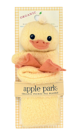 Apple Park Organic Cotton Blankie – Ducky