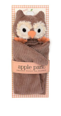 Apple Park Organic Cotton Blankie – Owl