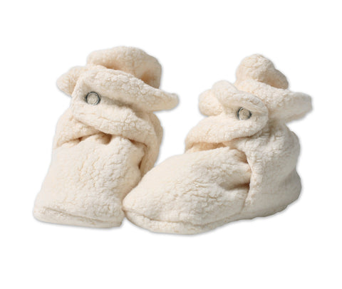 Zutano Cozie Baby Booties Cream